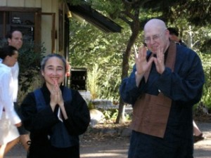Bobbi & Dairyu Michael Wenger Roshi at her lay ordination, 2005
